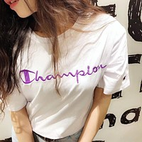 Champion Classic Embroidery Logo Tee