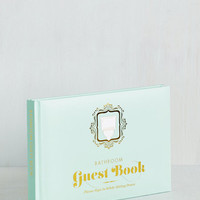Quirky Bathroom Guest Book by ModCloth