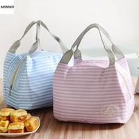 Day-First™ Women Kids Men Cooler Lunch Box Bag Insulated Canvas Lunch Bag for women Thermal Food Picnic Lunch Bags *35