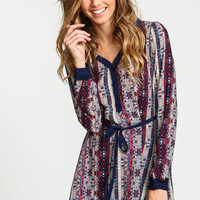 Tribal Print Lacey Chiffon Top - LoveCulture