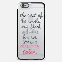 Screaming Color - Taylor Swift Quote iPhone 6 Plus case by Tangerine- Tane | Casetify