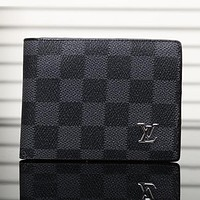 Boys & Men LV Leather Purse Wallet
