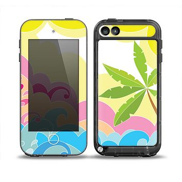 The Cartoon Bright Palm Tree Beach Skin for the iPod Touch 5th Generation frē LifeProof Case