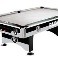 Oakland Raiders Slate Pool Table