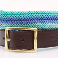 Vineyard Vines Waxed Cord Belt- Aquamarine