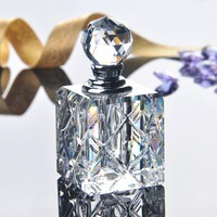 5ML Clear Unqiue Crystal Glass Crystal Women Perfume Bottle Empty Refillable Container Travel Perfume Cosmetic Sample Bottle