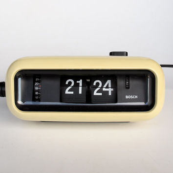 Vintage flip clock alarm clock bosch from the curious case White flip clock