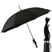 Silhouette Cat Handle Umbrella