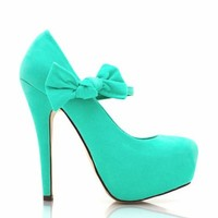 knotted-bow-platforms BLACK CORAL MINT RED TAUPE - GoJane.com