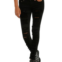 Judy Blue Black Ripped Skinny Jeans