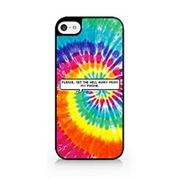 Please, Get The Hell Away From My Phone. - Tie Dye - Speech Bubble - Sassy Quote - iPhone 5C Black Case (C) Andre Gift Shop