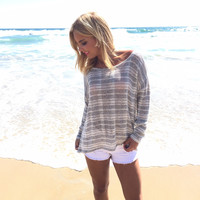 Stripe A Punch Knit Top