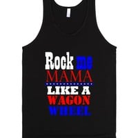 Wagon Wheel-Unisex Black Tank