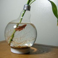 Large Lightbulb Fishbowl by StarRedesigns on Etsy