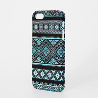 Black and Blue Floral Pattern iPhone 6 Plus/6/5S/5C/5/4S/4 Protective Case #339