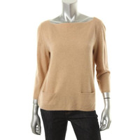 Lord & Taylor Womens Cashmere 3/4 Sleeves Pullover Sweater
