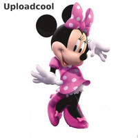 Uploadcool _ Removable Wall Stickers Mickey Minnie Cartoon Baby Room Wall Stickers Decorative Wall Decals