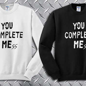 You Complete Me 5 Second Of Summer Luke Hemmings Custom Crewneck Sweatshirt for Unisex adult made by USA