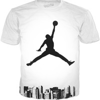 Jordan Shirt Looking Over The City