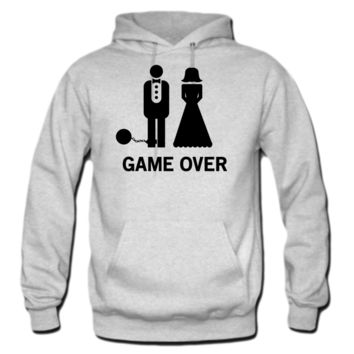 Wedding. Game Over Ball and Chain HOODIE