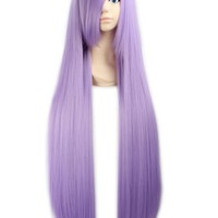 "31"" 80cm White Long Straight Anime Cosplay Costume Party Wigs Hair Extension"