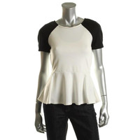 Casual Couture by Green Envelope Womens Peplum Top