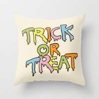 Happy Halloween! Throw Pillow by Eric Fan