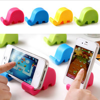 1 PCS Creative cute elephant nose phone holder tablet coloful Mobile Phone Accessories stands Multi-function mobile phone holder