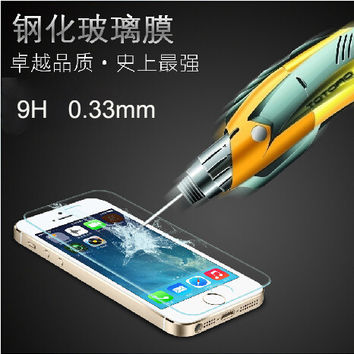 Premium Real Tempered Glass Film For Apple iPhone 4 4S 5 5S 6 6S Plus phone case
