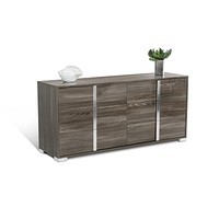 Grey Stylish 6 Drawer Steel Accent Dresser
