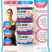Bodyglide For Her Pocket-Size Anti-Chafing Skin Protectant - Package of 3