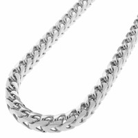 925 Sterling Silver Cuban Curb 8mm Link Italy-Made Men's Chain Necklace