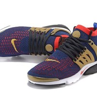 Nike Air Presto Flyknit Ultra Soil Gold Black Red 40 45