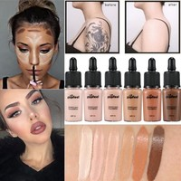 6 Colors Brand Face Foundation spf15 Base Concealer Makeup Liquid Foundation BB Cream Maquiagem 15ml