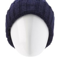 Diamond Knit Foldover Beanie by Charlotte Russe