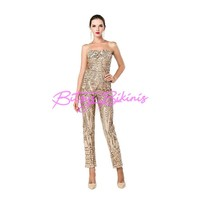 Gold Sequin Jumpsuit