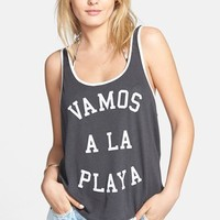 Junior Women's Billabong 'Vamos a la Playa' Tank,