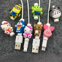 Cartoon Cord Cable Protector For iPhone