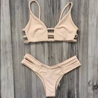 Hollow Out Sling Beach Bikini Swimsuit Swimwear
