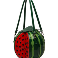 Cute Style Watermelon Shape Shoulder Bag