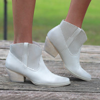 Very Volatile: Mishka Perfed Cowgirl Bootie {Ivory}