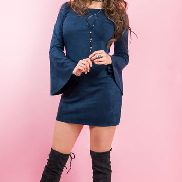 Play The Blues Suede Dress