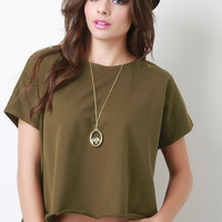 Boxy French Terry Tee