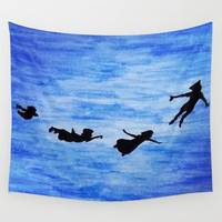 Neverland Wall Tapestry by Sierra Christy Art