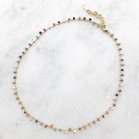 Confetti Choker Necklace Rainbow
