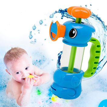 1pc New Funny Baby Water Toys Hippocampus Style Bath Toys Pool Spraying Tool For Children Bathroom Games Kids Shower Water Toys