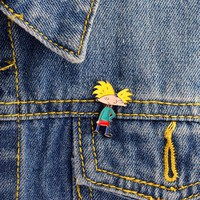 Hey Arnold! Arnold pins Cartoon character pins Brooches Badges Hard enamel pins Fashion Accessory Hey Arnold Jewelry