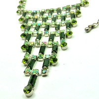 Art Deco Retro Bib Necklace / Vintage 1980's