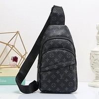 LV Louis Vuitton Woman Men Fashion Leather Crossbody Single Shoulder Bag Satchel