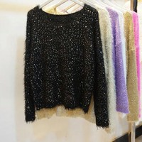 Sparkle Long Sleeve Sweater - 6 Colors